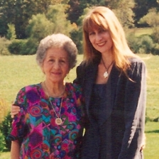Rena and I outside her home in Hendersonvill, NC. (1995)